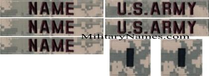 ACU  SET (3nt,2 army,& 2 rank)