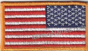 FULL COLOR REVERSE AMERICAN FLAGS With Hook-Fastener.
