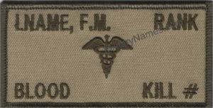 NAVY MEDICAL DESERT CLOTH BADGES With  Hook  Fastener