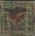 Air Force OCP CHEST RANK INSIGNIA SEW ON (SPICE BROWN THREAD)