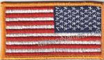 FULL COLOR REVERSE AMERICAN FLAGS. Sew-On