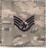 ABU Pattern AIR FORCE RANKS Blue Thread Color with Hook  Fastener  (2x2)