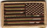 Reversed American Flags on MultiCam with Hook  Fastener   - Spice Brown