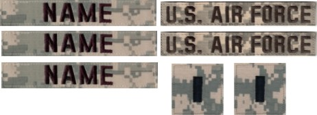 **AIR FORCE** ACU  SET (3nt, 2 U.S. Air Force, & 2 rank)