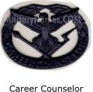 BLACK METAL CAREER COUNSELOR QUALIFICATION BADGES