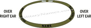 OLIVE DRAB 3 SIDED HELMET BAND