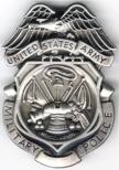 ARMY MP BADGES  SILVER OXIDIZED NOT Engraved