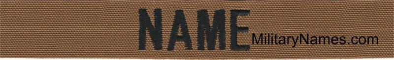 33bbd4c5f COYOTE BROWN FABRIC NAME TAPES With Hook Fastener