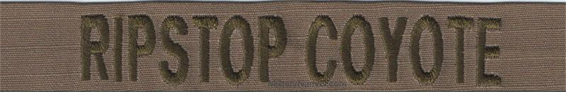 217cd6435 RIPSTOP COYOTE BROWN FABRIC USMC NAME TAPES with Hook Fastener