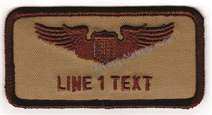 DESERT 2x4 CLOTH BADGES With  Hook  Fastener