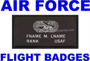 AIR FORCE LEATHER FLIGHT BADGES