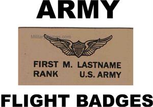 ARMY LEATHER FLIGHT BADGES