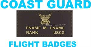 COAST GUARD LEATHER FLIGHT BADGES