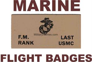 MARINE LEATHER FLIGHT BADGES