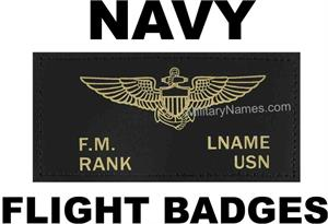 NAVY LEATHER FLIGHT BADGES