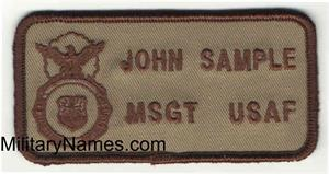 SECURITY FORCE  BADGES on DESERT SAND Fabric with Hook Fastener