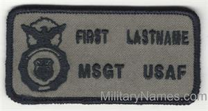 SECURITY FORCE  BADGES on SAGE GREEN Fabric with Hook Fastener