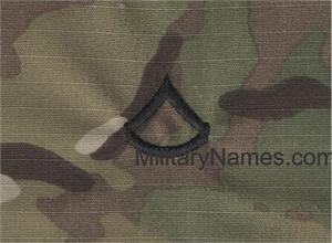 Custom MULTICAM Rank with Hook Fastener