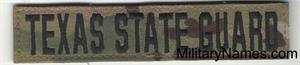 TEXAS STATE GUARD NAME TAPES