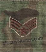 Air Force MULTICAM RANK INSIGNIA SEW ON (SPICE BROWN THREAD)