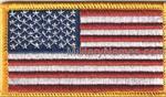 FULL COLOR FORWARD AMERICAN FLAGS Sew On