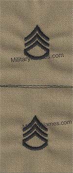 Desert Sand Ranks SEW ON Army Style (PAIRS)
