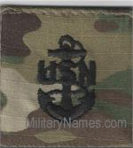 OCP U.S. NAVY SEW-ON CHEST RANK Black Thread