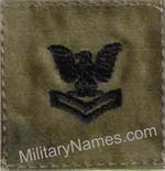 A-TACS Foilage Green U.S. NAVY RANKS - BLACK THREAD with  Hook  Fastener