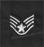USAF BLACK FABRIC RANK Sew On (Pairs)