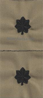 ARMY OFFICERS DESERT SAND COLLAR SEW-ON RANKS (PAIRS)