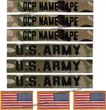 OCP WEST POINT SET (3NT, 3US ARMY,&3 REV FLAGS)