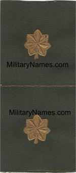 ARMY OFFICERS OLIVE DRAB COLLAR SEW-ON RANKS (PAIRS)